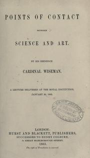 Points of contact between science and art by Nicholas Patrick Wiseman