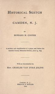 Historical sketch of Camden, N. J by Cooper, Howard M.