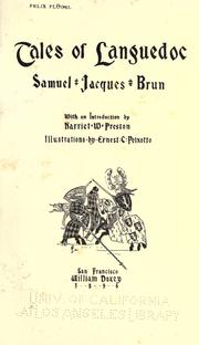 Tales of Languedoc by Samuel Jacques Brun