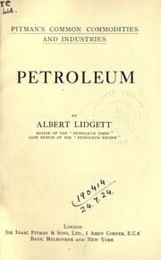 Petroleum by Albert Lidgett