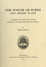 The power of Purim, and other plays PDF