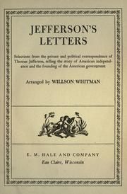 Cover of: Jeffersons's letters by Thomas Jefferson