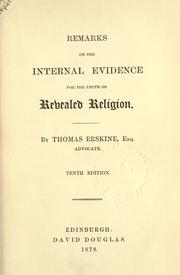 Remarks on the internal evidence for the truth of revealed religion PDF