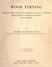 Wood turning by George Alexander Ross