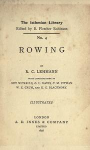 Rowing by Rudolph Chambers Lehmann