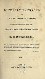 Literary extracts from English and other works PDF