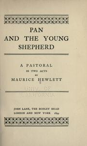 Pan and the young shepherd by Maurice Henry Hewlett