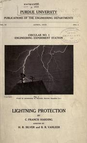 Lightning protection by C. Francis Harding