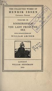 Cover of: Rosmersholm by Henrik Ibsen