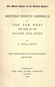 British North America by Charles Hill-Tout