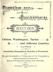 Cover of: Portrait and biographical record of Clinton, Washington, Marion and Jefferson Counties, Illinois by