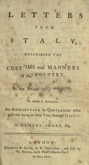 Letters from Italy by Samuel Sharp