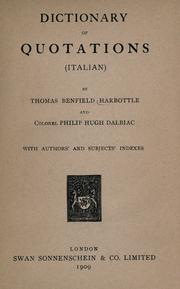 Dictionary of quotations (Italian) by Thomas Benfield Harbottle