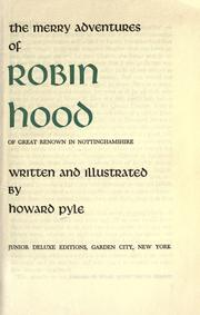 The merry adventures of Robin Hood of great renown in Nottinghamshire PDF