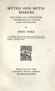 Myths and myth-makers PDF