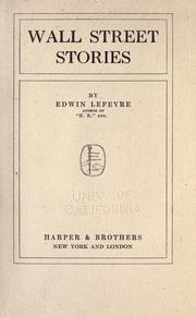 Wall Street stories by Edwin Lefevre