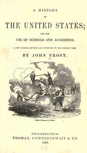A history of the United States by Frost, John
