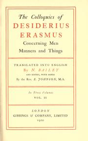 Colloquies by Desiderius Erasmus