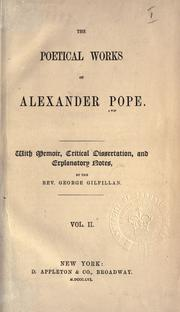 Poetical works by Alexander Pope