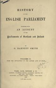 History of the English Parliament by George Barnett Smith