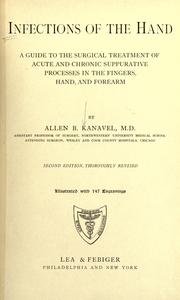 Infections of the hand by Kanavel, Allen Buckner
