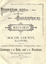 Cover of: Portrait and biographical record of Macon County, Illinois by