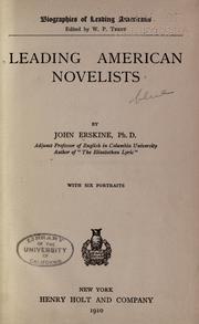 Leading American novelists PDF