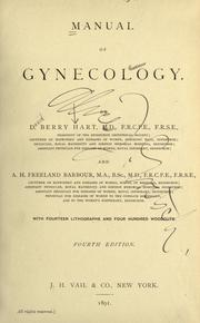 Manual of gynecology by D. Berry Hart