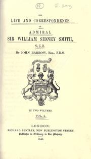 The life and correspondence of Admiral Sir William Sidney Smith, G.C.B PDF