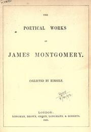The poetical works by Montgomery, James