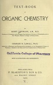 Text-book of organic chemistry PDF
