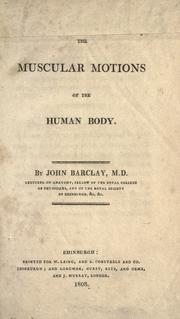 Muscular motions of the human body PDF