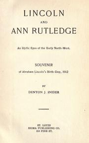 Lincoln and Ann Rutledge