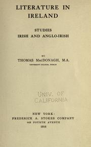 Literature in Ireland by Thomas MacDonagh