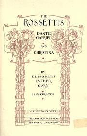 The Rossettis by Cary, Elisabeth Luther