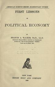 First lessons in political economy PDF