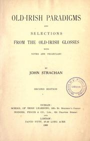 Old-Irish paradigms and selections from the Old-Irish glosses by Strachan, John
