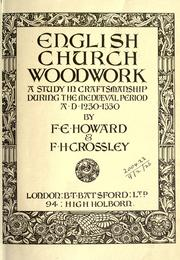 English church woodwork by Frank E. Howard
