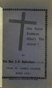 Our social problems - what's the answer? PDF