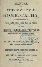 Manual of veterinary specific homeopathy by F. Humphreys