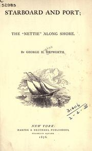 Starboard and port by George H. Hepworth