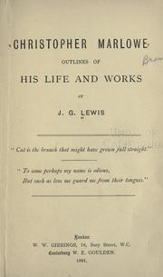 Christopher Marlowe by J. G. Lewis