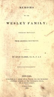 Cover of: Memoirs of the Wesley family by Clarke, Adam
