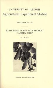 Bush lima beans as a market garden crop by Lloyd, John William