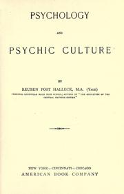 Psychology and psychic culture PDF