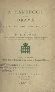 A handbook of the drama PDF