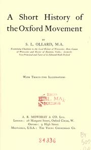Cover of: A short history of the Oxford movement by S. L. Ollard