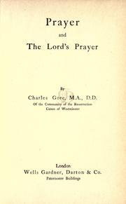 Prayer and the Lord's Prayer PDF