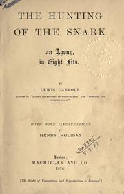Cover of: The hunting of the snark by Lewis Carroll