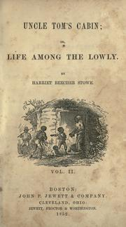 Cover of: Uncle Tom's cabin by Harriet Beecher Stowe